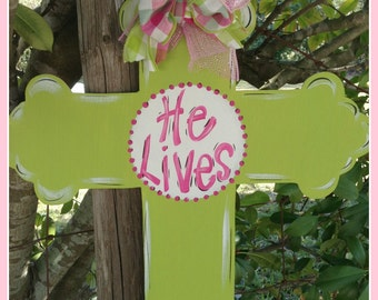 Easter Cross Door Decor