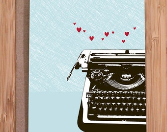 love card / funny card / typewriter