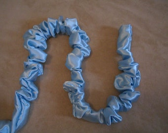 Cord Cover 9 ft long Baby Blue Satin