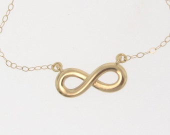 14k Gold Reese Witherspoon Infinity Necklace - Everlasting Love Yellow Gold or White Gold
