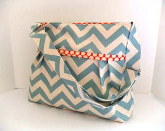 Diaper Bag  - Chevron Diaper Bag - Messenger Bag - Crossbody