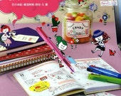 4 Color Ballpoint Pen Kawaii Illustration Book for Schedule Books - Japanese Craft Book