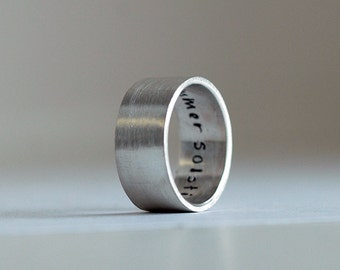 Wedding Band   Personalized Mens Ring   Silver Wedding Ring   Modern  Wedding Band   WideModern wedding band   Etsy. Modern Wedding Bands. Home Design Ideas