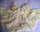 Crocheted Yellow Dress