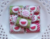 Printable Personalized Watermelon Birthday Mini Candy Bar Wrappers