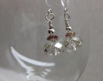 Crystal dangle earrings, wedding jewelry, bridal earrings, bridesmaid jewelry