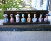Avon American Fashion Thimbles Complete with Display Rack  Circa 1980s