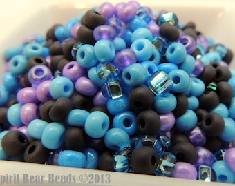 Paisley Purple and Turquoise  bead mix Size 6/0