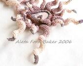 Statement Necklace Beadwork Art 'Spiral Frenzy' Beadweaving Indespiral 'Shades of Pink' Neckpiece