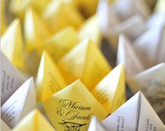 Cootie Catchers- Origami Wedding Favors- Set of 150