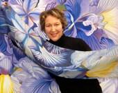 "Irises Irises Silk Scarf 48x12"""