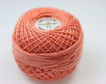 Valdani Pearl Cotton Peach Rose - 71
