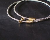 Guitar String Bangle Bracelet Set of Two