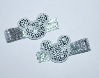 Mickey Mouse Silver Sequin Hair Clips - Buy 3 Items, Get 1 Free