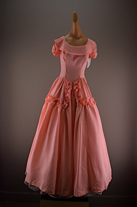 1930s pink gown 30s formal dress size small vintage 30s dress
