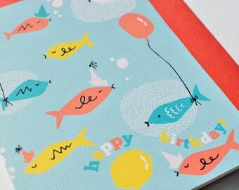 Fishy Fish Happy Birthday Greeting Card