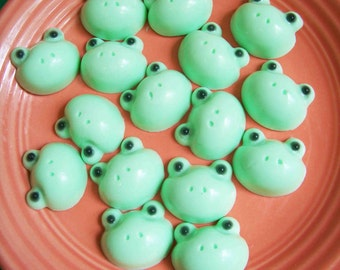 Frog Soap Set - Mini Soap, Animal Soap, Party Favors, Frog Face, Cute Soaps, Hand Soap, Kids Soap, Soap Favors, Boy Soaps, Cucumber Melon