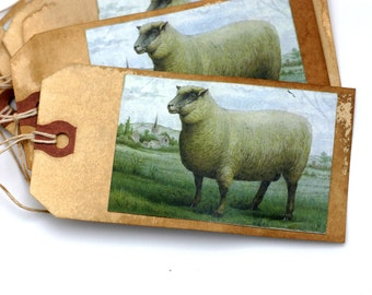 Shabby Primitive Sheep Tags