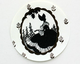 Victorian Lady Silhouette Stickers