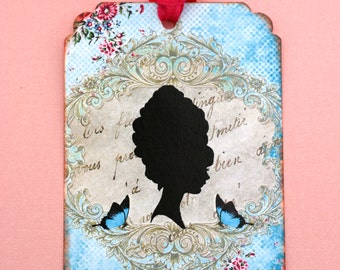 Victorian Lady Silhouette Gift Tags