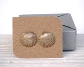 Seashell Earrings - Small Stud Earrings - Colored Natural Seashells - Summer Fashion