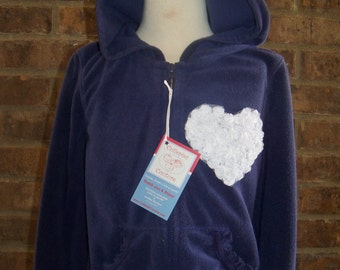 New Cutiepies Couture Custom boutique Girls Shabby Rose terry hoodie 7/8