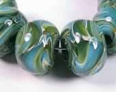 Lampwork glass beads, - BBGLASSART - Lampwork Boro Beads, Bora Bora