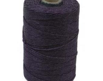 3 Ply 1 Spool (120 Yards) Irish Waxed Linen Thread Crawford Cord PLUM 420390-sp
