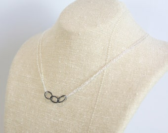 Modern Chain Necklace - Sterling Silver - Mixed Metal - Choose Your Finish