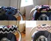 Cute NEW and IMPROVED Custom Car Seat Arm Pad with Hand Grip-- Your CHOICE of Fabric