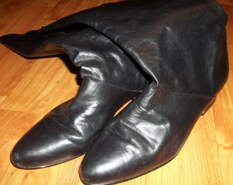 Ultra HIP 1980's Leather Boots - NATURALIZER Size 9.5M