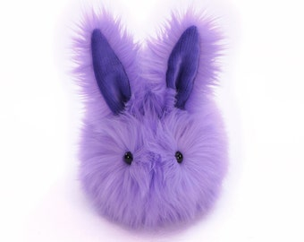 Stuffed Easter Bunny Stuffed Animal Cute Plush Toy Bunny Kawaii Plushie Pansy the Lavender Stuffed Bunny Rabbit Faux Fur Large 6x10 Inches