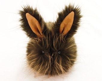 Stuffed Bunny Stuffed Animal Cute Plush Toy Bunny Kawaii Plushie Wookie the Brown Long Hair Cuddly Faux Fur Bunny Rabbit Medium 5x8 Inches