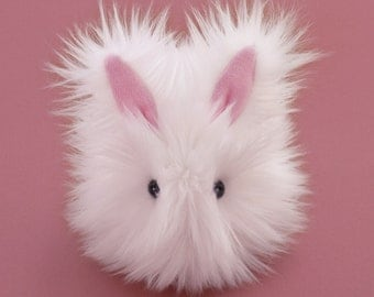 Stuffed Easter Bunny Stuffed Animal Cute Plush Toy Bunny Kawaii Plushie Cottonball the White Fluffy Faux Fur Bunny Rabbit Small 4x5 Inches