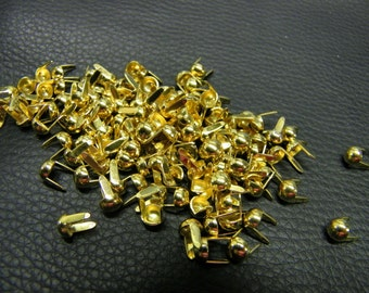 Round Spots Brass Plated 3/16 Nailhead Pack of 100