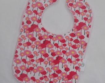Pretty Pink Pick A Bunch Fabric and Chenille Bib - Organic - SALE
