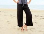 Organic Simplicity Pedal Pushers ( light hemp and organic cotton knit ) - Organic Pants