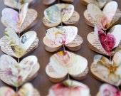 "Paper hearts garlands, PEONY and ROSES Hearts, paper garland, heart garland, wedding garland, bridal shower, 40"" garland - LaMiaCasa"