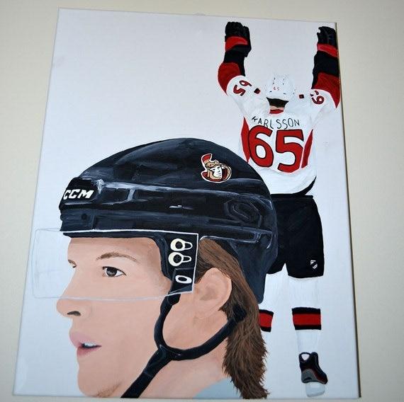 Erik Karlsson Ottawa Senators NHL Hockey 16x20 canvas Painting