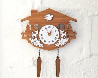 Cuckoo Clock, Modern Wall Clock, Deer, Style C
