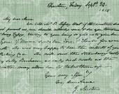 Digital Download Jane Austen Letter, Antique Illustration, Vintage drawing, digi stamp, Script, Handwriting