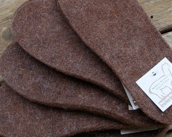 SALE!  Alpaca Boot and Shoe Inserts Needle Felted Comfort and Insulation for Your Feet Handmade