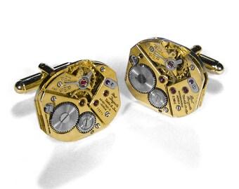 Mens Cufflinks PAUL BREGUETTE Cufflinks RARE Gold Watch Cuff Links Wedding Anniversary Groom, Fiancee Cufflinks -  Jewelry by edmdesigns