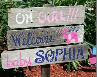 Baby Shower Sign Decorations Its A Boy Sign Its A Girl