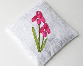 Iris flower lavender sachet, silk sachet, aromatherapy bag, gift for gardener, scented sachet, Tennessee state flower