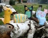 9 Felt Stuffed Animal Patterns Quick Stitch Sewing Book
