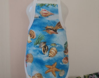 Seashells on Blue  Bottle Apron