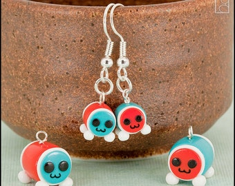 Taiko Drum Master Charm or Drop Earrings