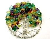 Family Tree  brooch pin AND pendant - Mother Great Grandmother - Children Grandchildren birthstones - Personalized gift - in law