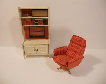 Vintage Lundby Brasilia Reclining Chair- Super Seventies